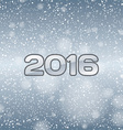 Blue Snow 2016 vector image