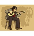 bouzouki performer casual dres vector image vector image