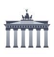 Brandenburg Gate in Berlin isolated vector image vector image
