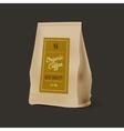 Brown Paper Food Bag Package Of Coffee vector image vector image