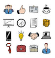 business icons set cartoon vector image vector image