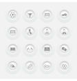 Button Soccer Icons web design Menu template vector image vector image