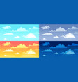 cartoon cloudy skies in different parts day vector image vector image