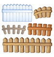 cartoon fences collection vector image