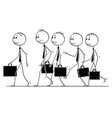 cartoon group or team businessmen vector image