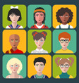 children avatars set different vector image