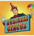 circus business billboard vector image vector image