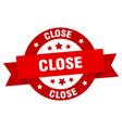 close ribbon close round red sign close vector image vector image
