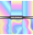 colored hologram backgrounds for sticker vector image vector image