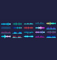 colored sound waves collection analog and digital vector image vector image