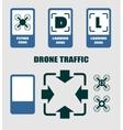 Drone quadrocopter traffic symbols vector image vector image