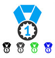 first place medal flat icon vector image vector image