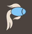 fish logo template creative symbol of fishing vector image