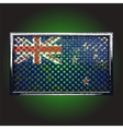 flag on old metal vector image
