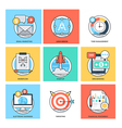 Flat Color Line Design Concepts Icons 36 vector image vector image