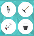 flat icon farm set of pail harrow pump and other vector image vector image