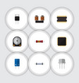 flat icon technology set of resist resistance vector image vector image