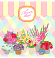 flower shop color vector image vector image