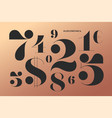 font of numbers in classical french didot style vector image vector image