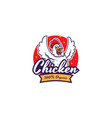 fried chicken restaurant logo template vector image vector image