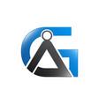 g letter logo design template g letter logo vector image vector image