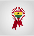 ghana flag ribbon banner badge vector image