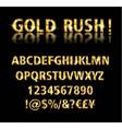 golden font vector image vector image