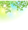 Green leaves tree branches background vector image vector image