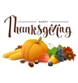 Happy Thanksgiving lettering text Rich harvest of vector image