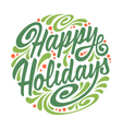 Holidays greeting card vector image vector image