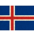 Iceland paper flag vector image