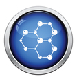 Icon of chemistry hexa connection of atoms vector image