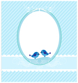 Invitation blue template vector image vector image