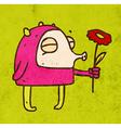 Kissing Alien Cartoon vector image vector image