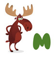 letter m is for moose vector image
