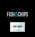 logo fish chips hook business card vector image vector image