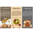 menu for lunch vector image vector image