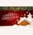 merry christmas cute background with gingerbread vector image vector image
