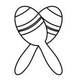 mexican maracas icon outline style vector image