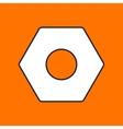 nut icon Eps10 vector image vector image