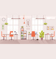 office workplace cartoon flat vector image vector image