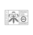 organic food logo badge and label for healthy