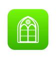 oriental window frame icon green vector image vector image