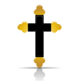 Orthodox cross vector image vector image