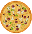 Pizza on a white background Isolate vector image