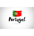 portugal country flag concept with grunge design vector image
