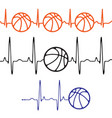 pulse basketball set differentt colors vector image