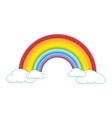 rainbow cloud color vector image