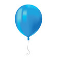 realistic air flying blue balloon with reflects vector image vector image