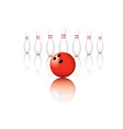 red bowling balls pins vector image
